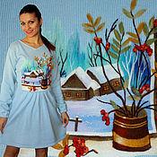 """Одежда ручной работы. Ярмарка Мастеров - ручная работа Платье """" Первый снег """". Handmade."""