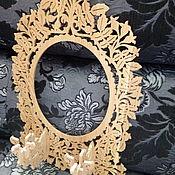 Для дома и интерьера ручной работы. Ярмарка Мастеров - ручная работа Рама для зеркала с подсвечниками. Handmade.