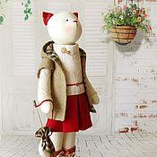 """Куклы и игрушки ручной работы. Ярмарка Мастеров - ручная работа Кошка """"Мне приснилось небо Лондона"""". Handmade."""