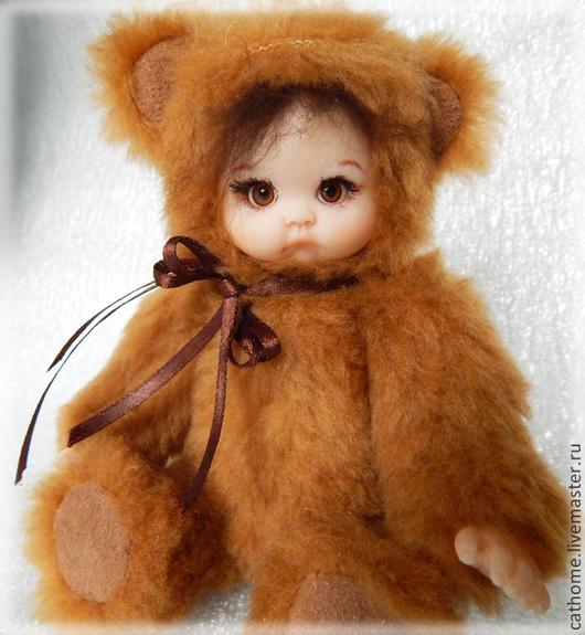 Коллекционные куклы ручной работы. Ярмарка Мастеров - ручная работа. Купить Тедди-долл Женька. Handmade. Коричневый, мишка, пластика