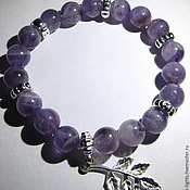 Bead bracelet handmade. Livemaster - original item Bracelet with amethyst