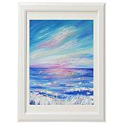 Картины и панно handmade. Livemaster - original item Oil painting Sunset sea Landscape. Handmade.