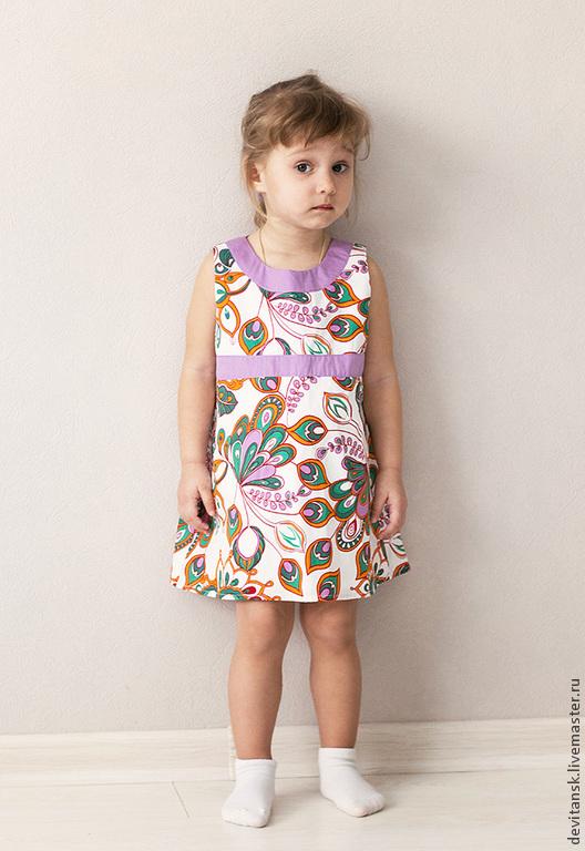 """Одежда для девочек, ручной работы. Ярмарка Мастеров - ручная работа. Купить Платье для девочки """"Перо Жар Птицы"""". Handmade. Белый"""