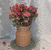 Для дома и интерьера ручной работы. Ярмарка Мастеров - ручная работа Ваза плетеная. Handmade.