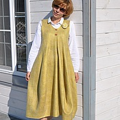 """Одежда ручной работы. Ярмарка Мастеров - ручная работа валяное платье-сарафан  """"Lagenlook"""". Handmade."""