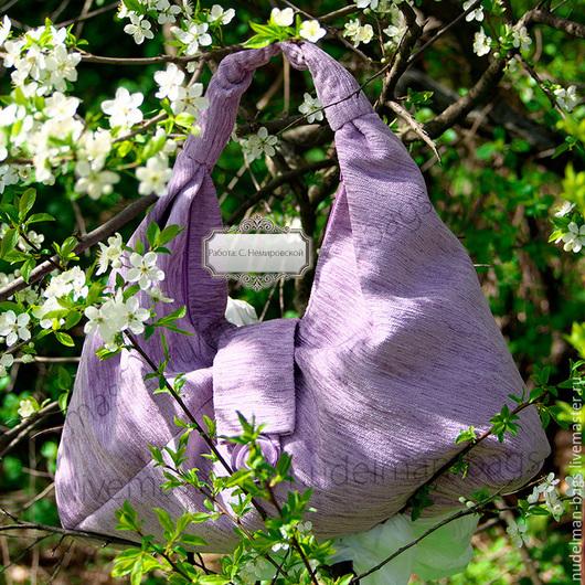 Сумка Нежная сирень сумка-баул мешок торба