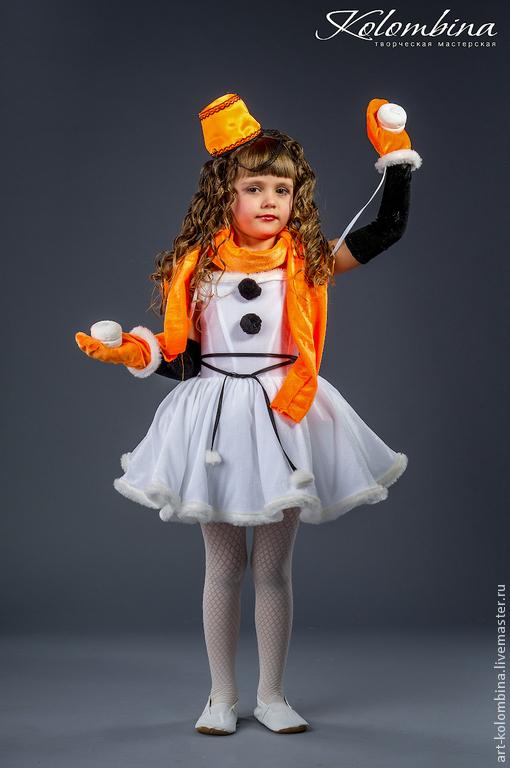 Карнавальные костюмы ручной работы. Ярмарка Мастеров - ручная работа. Купить Костюм снеговика-12. Handmade. Рыжий, новогодний костюм