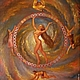 Символизм ручной работы. Ярмарка Мастеров - ручная работа. Купить Авторская 3Д картина Колесо Фортуны.. Handmade. Ярко-красный
