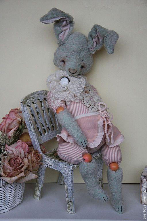 Мишки Тедди ручной работы. Ярмарка Мастеров - ручная работа. Купить Зая  ( 42 см ). Handmade. Мятный