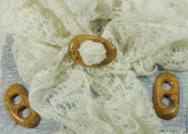 Заколка пряжка для платка/шарфа из дерева (капа)