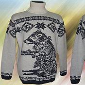 Одежда ручной работы. Ярмарка Мастеров - ручная работа Тату-свитер - Енот с пистолями. Handmade.