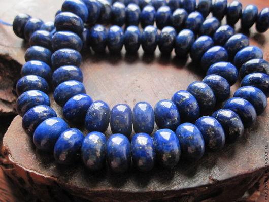 Для украшений ручной работы. Ярмарка Мастеров - ручная работа. Купить ЛАЗУРИТ афганский нить 10 см рондели. Handmade.