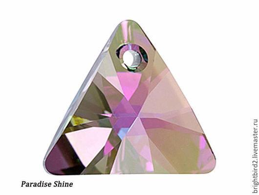 Для украшений ручной работы. Ярмарка Мастеров - ручная работа. Купить Подвеска Треугольник  6628 цвет Paradise Shine Сваровски. Handmade.