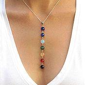 Фен-шуй и эзотерика handmade. Livemaster - original item Pendant-pendant Seven Chakras earrings bracelet beads talisman Harmony. Handmade.