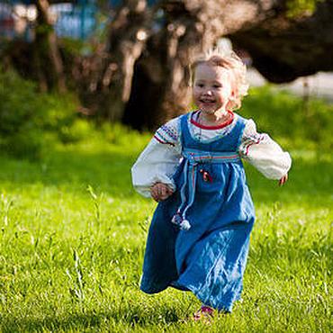 Русский стиль ручной работы. Ярмарка Мастеров - ручная работа русский костюм для девочки. Handmade.