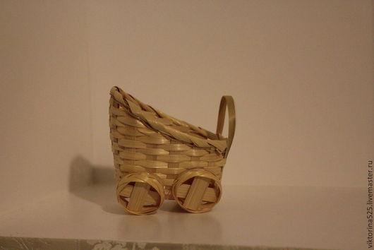 Миниатюра ручной работы. Ярмарка Мастеров - ручная работа. Купить коляска кукольная из соломки. Handmade. Лимонный, Аксессуары для игрушек