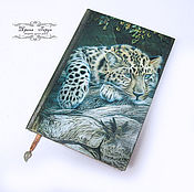 "Канцелярские товары handmade. Livemaster - original item Ежедневник ""Леопард"". Handmade."