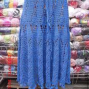 Одежда ручной работы. Ярмарка Мастеров - ручная работа Голубая юбочка. Handmade.