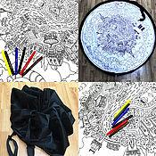 Для дома и интерьера ручной работы. Ярмарка Мастеров - ручная работа Коврик-рюкзак-раскраска Город. Handmade.