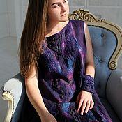 """Одежда ручной работы. Ярмарка Мастеров - ручная работа Валяное платье  """"Ночное сияние"""". Handmade."""