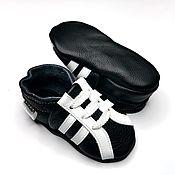 Обувь ручной работы handmade. Livemaster - original item Blsck&White baby shoes, Baby sneakers, Ebooba, Leather Baby Shoes. Handmade.