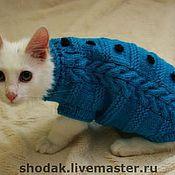 Для домашних животных, ручной работы. Ярмарка Мастеров - ручная работа вязаный свитер для котика. Handmade.