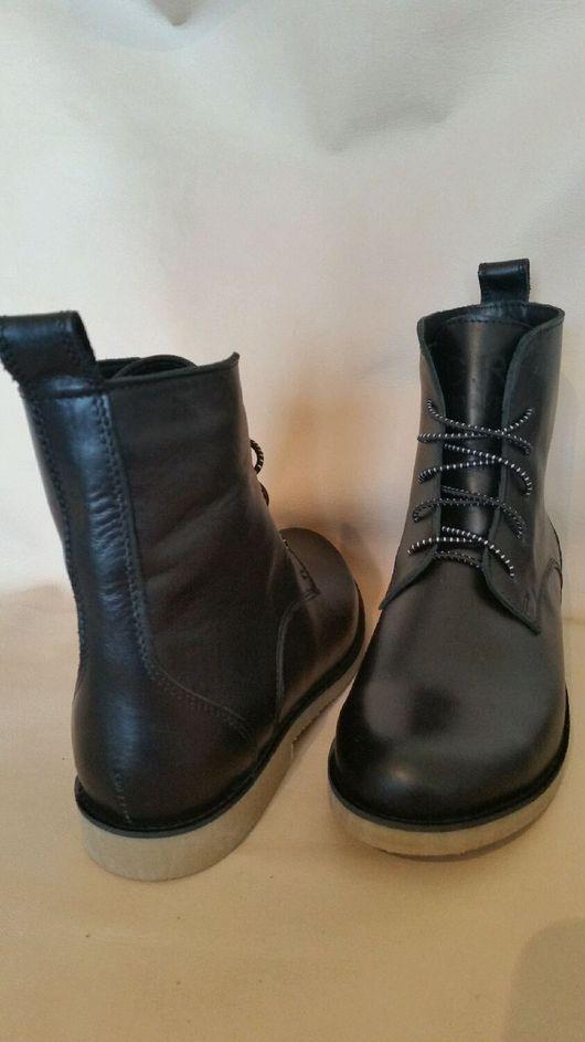 Обувь ручной работы. Ярмарка Мастеров - ручная работа. Купить Ботинки кожаные ,женские.. Handmade. Ботинки, замша, натуральный кашемир