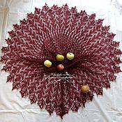 Подарки к праздникам ручной работы. Ярмарка Мастеров - ручная работа шаль темно-вишневая на выход. Handmade.