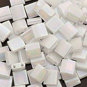 Материалы для творчества ручной работы. Ярмарка Мастеров - ручная работа Миюки ТИЛА 471 opaque white pearl AB 10гр. Handmade.