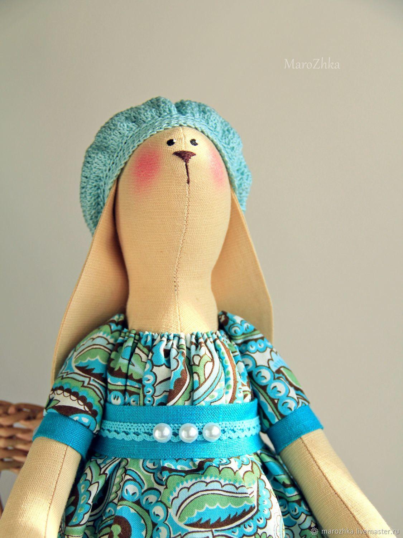 Tilda Bunny. Interior toy. Toy animals, handmade.Tilda dolls . LiveMaster-handmade. Buy Bunny Tilda. Bunny-girl. Buy Bunny textile Handmade. Sea wave chocolate