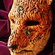 """Интерьерные  маски ручной работы. Заказать """"Кицунэ. Волшебная лиса."""" Тематическая маска.. Рука Солнца   *авторские маски*. Ярмарка Мастеров."""