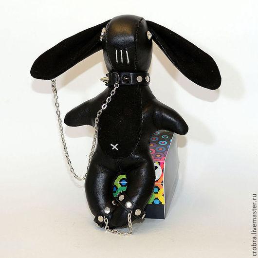 Игрушки животные, ручной работы. Ярмарка Мастеров - ручная работа. Купить Кожаный зайка мягкая игрушка в стиле Heavy Metal. Handmade.