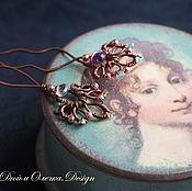 Украшения handmade. Livemaster - original item Copper studs with amethysts, peridots, Apatite, garnets.. Handmade.