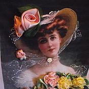 Картины и панно ручной работы. Ярмарка Мастеров - ручная работа Дама с розами. Handmade.