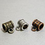 handmade. Livemaster - original item Bale pendant and pendant holder, color bronze, silver, copper. for PCs. Handmade.