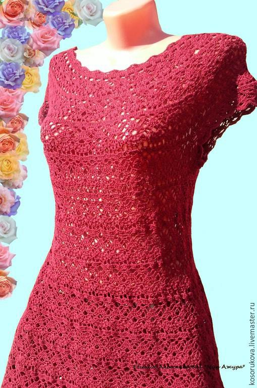 Платье лилии крючком