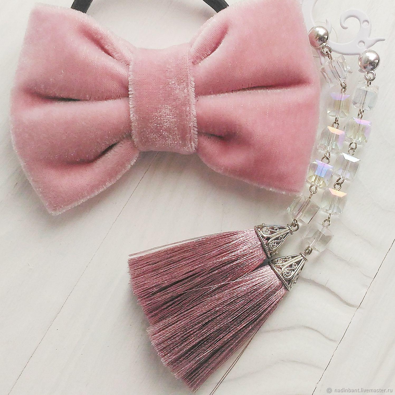 Earring of the brush 'Pink Smile', Tassel earrings, St. Petersburg,  Фото №1