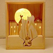"""Ночники ручной работы. Ярмарка Мастеров - ручная работа Светильник-ночник """"Коты"""". Handmade."""