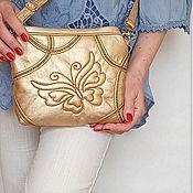 Сумки и аксессуары handmade. Livemaster - original item Butterfly clutch bag, gold handbag, gold clutch. Handmade.