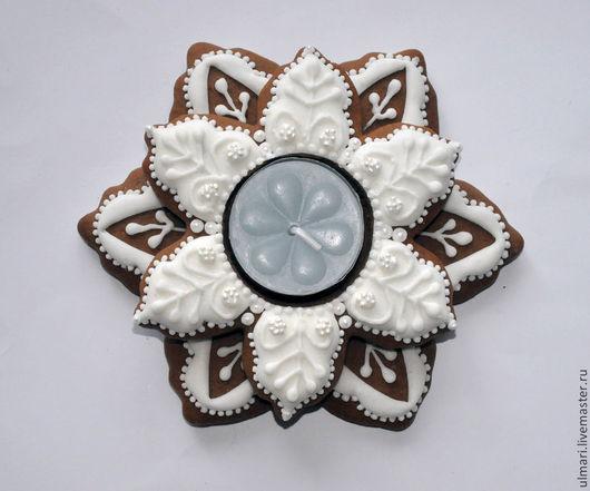 Пряник имбирный Подсвечник , подарок к Новому году или  украшение Новогоднего стола