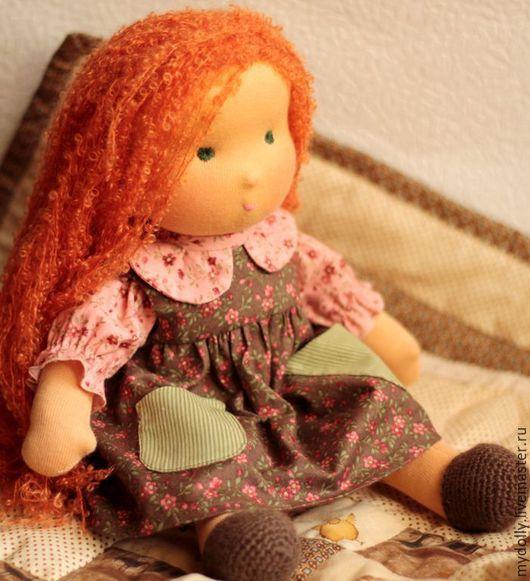 Вальдорфская игрушка ручной работы. Ярмарка Мастеров - ручная работа. Купить Вальдорфская кукла с набором одежды (34 см). Handmade.