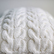 Для дома и интерьера handmade. Livemaster - original item Cushion knit White Lotus decorative hand rabotna work. Handmade.