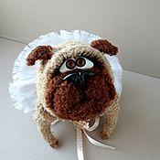 Куклы и игрушки handmade. Livemaster - original item Knitted toy Pug Fanny. Handmade.