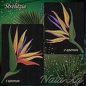 Материалы для творчества handmade. Livemaster - original item STRELITZIA machine embroidery design. Handmade.