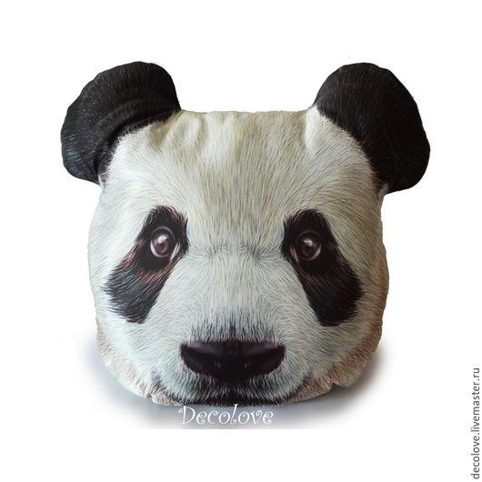 Текстиль, ковры ручной работы. Ярмарка Мастеров - ручная работа. Купить Подушка Панда подарок на день рождения подарок сыну подушка в машину. Handmade.