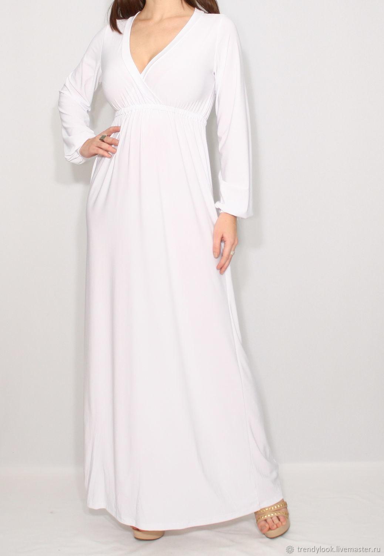 Платье Белое Макси В Пол Купить