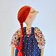 Коллекционные куклы ручной работы. кукла в сарафане. 'Настроение в горошек' (ViktoriaSP). Интернет-магазин Ярмарка Мастеров. Кукла в платье