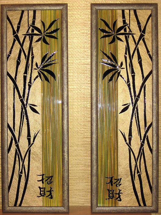 Символизм ручной работы. Ярмарка Мастеров - ручная работа. Купить Бамбук. Handmade. Панно, интерьерная робота, оригинальный подарок, бамбук