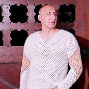Одежда ручной работы. Ярмарка Мастеров - ручная работа Пуловер  «Витязь» из собачьей шерсти.. Handmade.