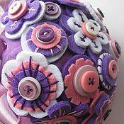 Свадебный салон ручной работы. Ярмарка Мастеров - ручная работа Букет из фетра и пуговиц. Handmade.